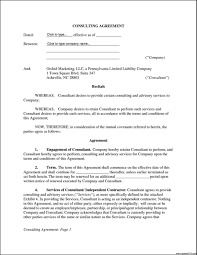 Consulting Contract Template Free Ideas