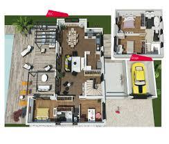 plan villa moderne 3d maison moderne