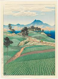Kawase Hasui Mt Unzen Seen From Amakusa The Series