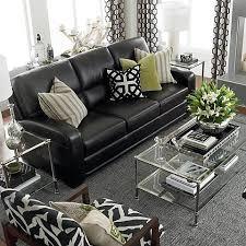 schwarz sofas wohnzimmer dekoration ideen