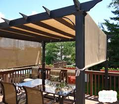 Patio Curtains Outdoor Plastic by Diy Front Porch And Deck Ideas Idea Box By Sandy Holly Pergolas