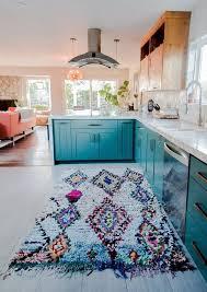 Erin Dannys Serene California Home Teal CupboardsColored CabinetsTurquoise Kitchen