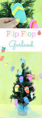 Seashell Christmas Tree Garland by Diy Flip Flop Garland Warm Weather Garlands And Flipping