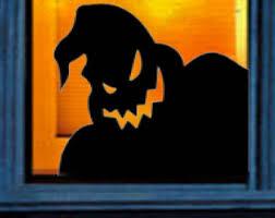 Oogie Boogie Halloween Stencil by Oogie Boogie Nightmare Before Christmas Window Decal