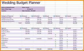 Budget Excel Spreadsheetfamily Spreadsheet Wedding Planner