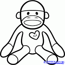 Sock Monkeys Colouring Pages Page 2