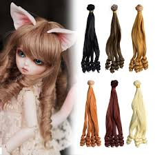 1x DIY Doll Wigs 15 100cm Gradient Wave Hair For Barbie Doll For