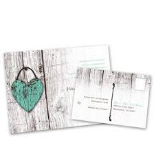 Rustic Wedding Invitations Wood Heart Invitation With Free Response Postcard