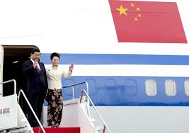 pr駭om porte de chambre read china president arrives in jakarta for state visit