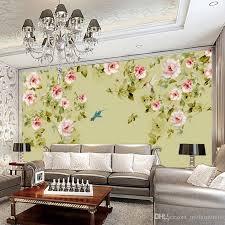 großhandel fototapete blumentapete vlies wandverkleidung klassische blume tapeten für wohnzimmer schlafzimmer multicolor wandbilder molamurals