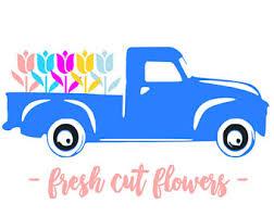 Fresh Cut Flowers Truck SVG File Quote Silhouette Cricut