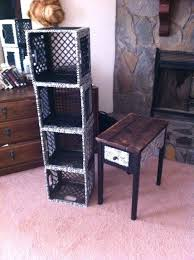 Milk Crate Storage Furniture Metal Crates Tall Narrow Buffets Book Plastic