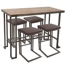 Glamorous Counter Height Pub Table Dining Rooms Piece Set ...