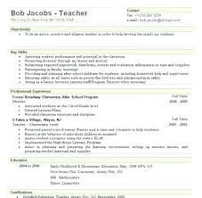 Substitute Teacher Resume Examples No Experience Sample Elementary