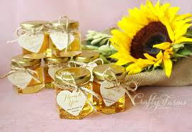 Rustic Themed Honey Jar Wedding Favours