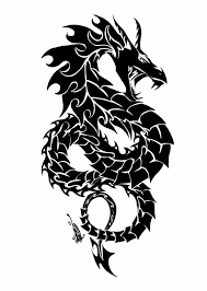 Brilliant Chinese Tribal Dragon Tattoo Designs Intended For The Body