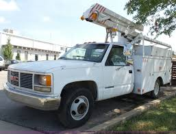 1991 GMC Sierra 3500 SL Bucket Truck | Item J4002 | SOLD! Se... 2007 Gmc C4500 Aerolift 2tpe35 40ft Bucket Truck 25967 Trucks Power Lines New City Light With Green Fleet Demo For Sale Equipment For Used Utility Inc Service 2008 Intertional 7400 Boom 107928 Miles Aerial Lift Ulities Lighting Maintenance Forestry Tree Crews 1995 Chevrolet Cheyenne 3500 Bucket Truck Item Dd0850 So Rent Lifts Near Naperville Il