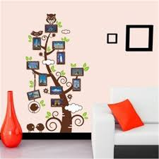 Owl Bedroom Wall Stickers by Photo Frame Tree Pegatinas De Pared Vinyl Owl Wall Decals Living