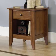 Sauder Shoal Creek Desk Jamocha Wood by Shoal Creek Nightstand