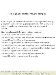 Electrical Qa Qc Resume Sample Manager Mechanical Impressive Quality Control Res Engineer