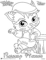 Whisker Haven Tales Coloring Page Of Barnaby Pickles Princess Palace PetsColoring