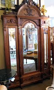 Tiger Oak Dresser Beveled Mirror by Antique Armoires Wardrobes Excellent Armoire Dresser European