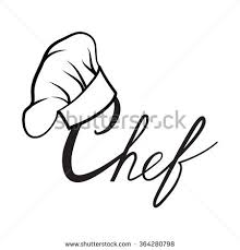 Cook Hat Drawn Chef Cooker Vector Black