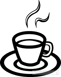 Coffee clipart outline 1