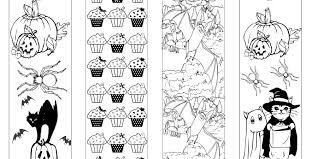 Haloween Coloring Bookmarks Free Download