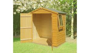 6 X 5 Apex Shed by Fairwood Shiplap Double Door Garden Shed 6 X 4 Sheds