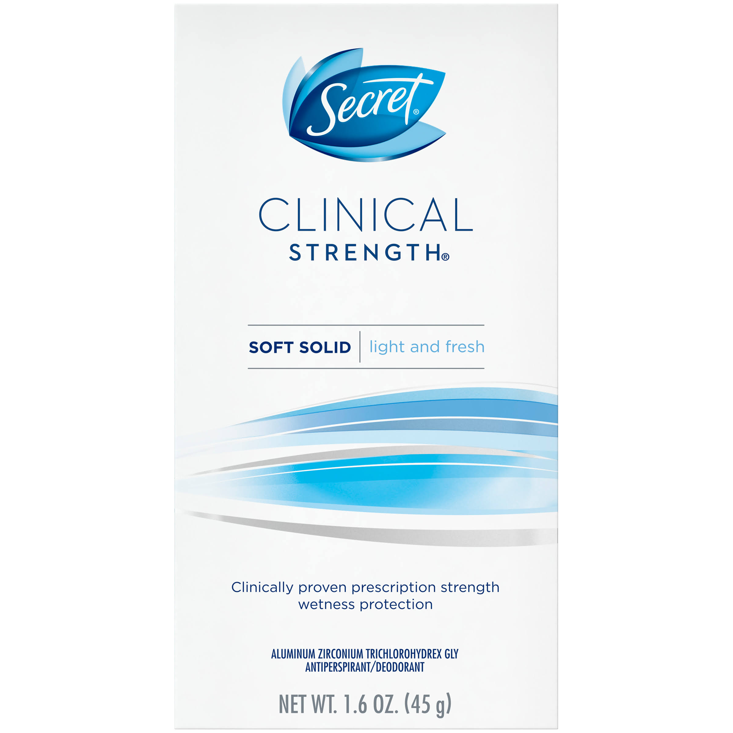 Secret Clinical Strength Soft Solid Light And Fresh Antiperspirant - 45g
