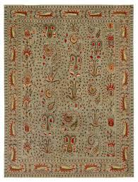 Wool Silk Suzani LtBlue 9 X