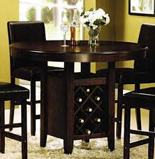 Counter Height Dining Table With Wine Rack