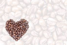 Coffee Bean Heart Shape On Transparent Background Stock Photo