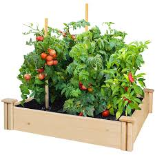 cedar raised garden beds walmart home outdoor decoration