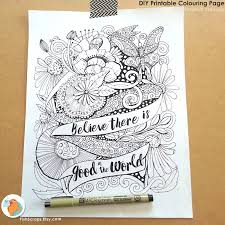 Free Coloring Pages For Adults With Quotes Adult Etsy