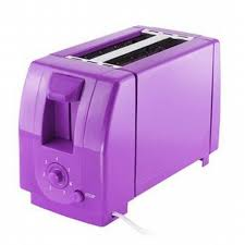 Finelife 2 Slice Toaster Purple White Dots