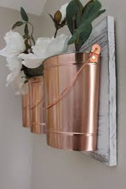 Skillful Ideas Copper Wall Decor With Home Project Buckets For Your Within The Grove
