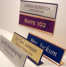 NAME PLATE for office desk or door sign plaque personalized by