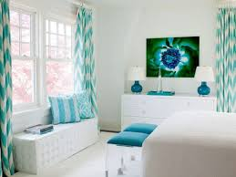 White Living Room With Turquoise Decor