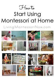 to Start Using Montessori at Home