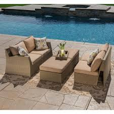 Sirio Patio Furniture Covers Canada by Sirio Hampton Beige 6 Piece Sectional Set Patio Furniture Set