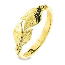 9 Carat Yellow Gold Leaf Design Dress Ring Polyvore