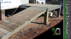 How To Build A Wooden Shed Ramp by Porch And Ramp Build A Workshop 20 Youtube