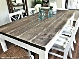 Distressed White Dining Table Set Vintage Wood Black Room Round And