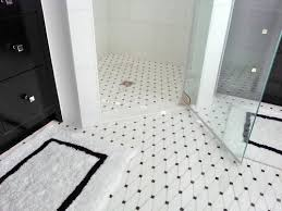 fantastic black and white bathroom tile and black and white floor