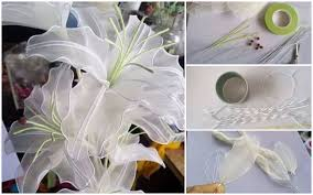 DIY Stocking Lily Flowers Tutorial Step By