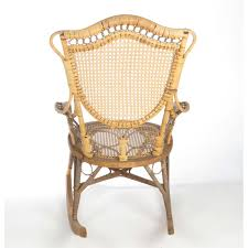 Antique Natural Wicker Rocking Ladies' Nursing Chair By Wakefield ...