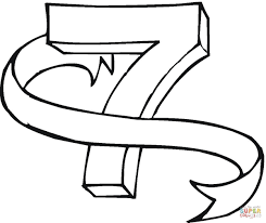 Click The Number 7 Coloring Pages