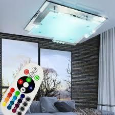 design rgb led decken leuchte glas spiegel esszimmer dimmer